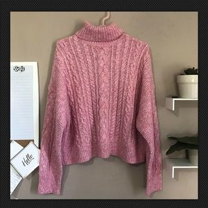 J.Crew Collection Chunky Knit Turtleneck Sweater